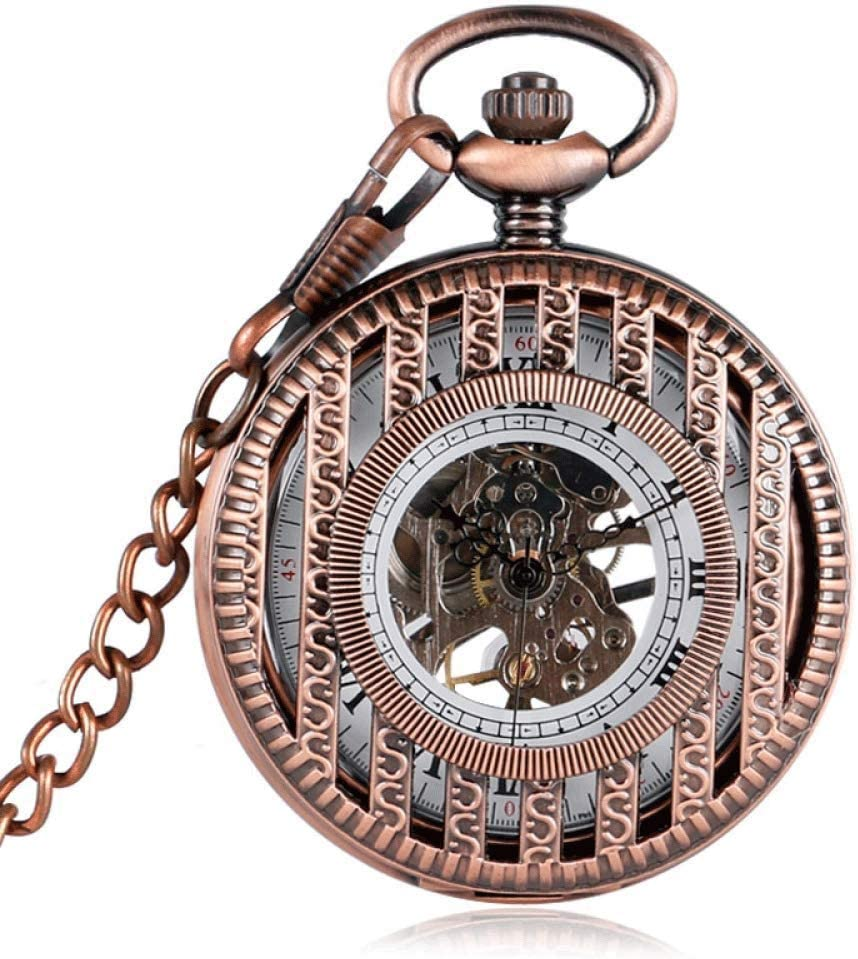 XJJZS Mechanical Pocket Watch Mens Bombing free shipping Double Hunter Golden 5 ☆ very popular Roman Nu