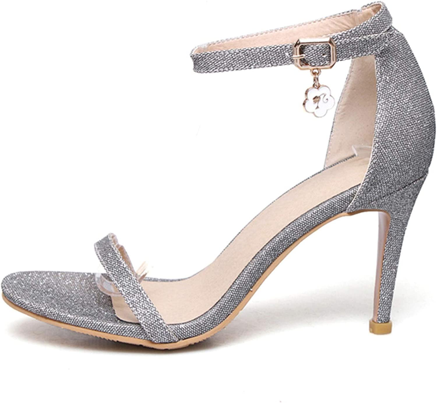 bluee Skieses 2019 Women Sandals Simple Buckle Summer Cover Heel Solid Sexy Party Wedding shoes Size 33-47
