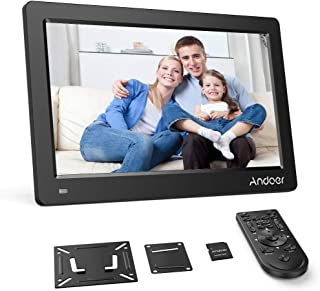 Andoer 13.3 inch Digital Photo Frame, FHD 1920 x 1080 IPS Screen Support Calendar Clock MP3 Photos 1080P Video Player Including VESA Wall Mounting Bracket, 8GB Memory Card, Remote Control