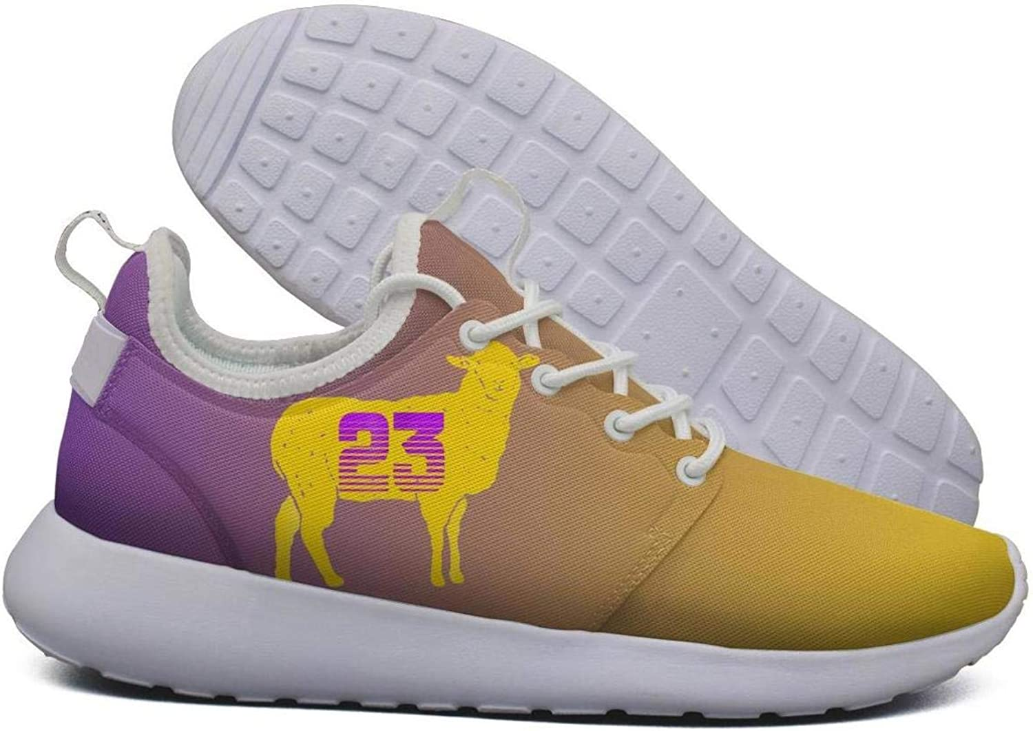 Womens Roshe Two Lightweight G.O.A.T 23 Yellow Goat Basketball Stylish Cross-Country Running mesh shoes