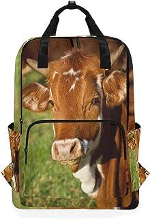 MONTOJ Mochila de Viaje marrón Vaca Mochila Escolar