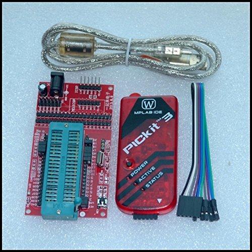 Pickit 3 Programación/emulador + microcontrolador PIC/placa base mínima/placa de desarrollo/asiento programador universal