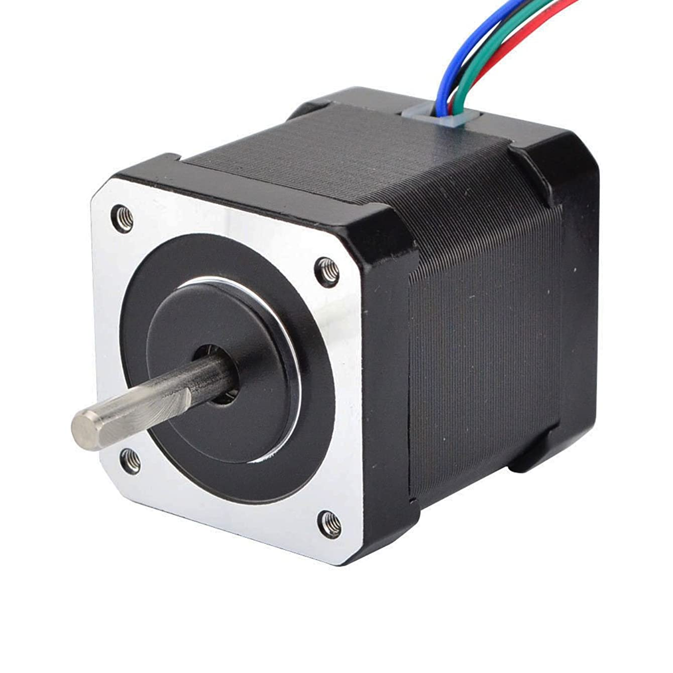 STEPPERONLINE Nema 17 Stepper Motor Bipolar 2A 59Ncm(84oz.in) 48mm Body 4-lead W/ 1m Cable and Connector compatible with 3D Printer/CNC