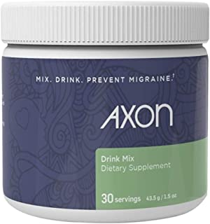 Axon Relief Migraine Supplement - Natural Daily Drink Mix Formulated to Hydrate and Reduce Headaches - 30 Servings (1 Month Supply)