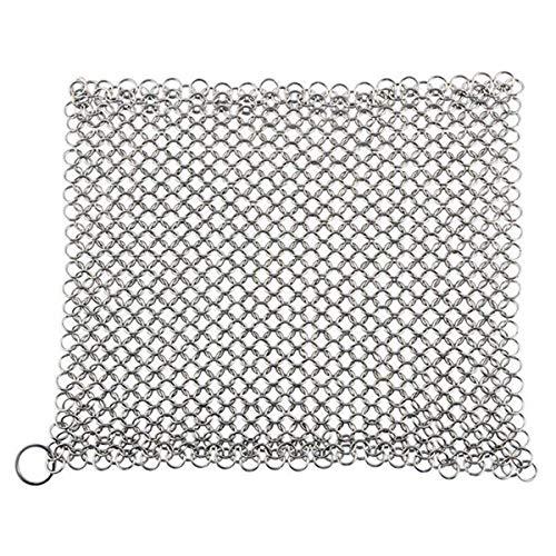 Dasing Cast Iron Cleaner -Premium 316 Steel Chainmail Scrubber, 8x6 Inch