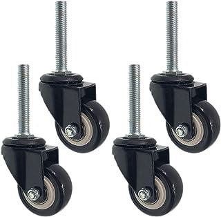 Zwenkwielen met zwenkwielen, 1,5 inch 38 mm polyurethaan zwenkwiel Werkbank Trolleyplank Meubelwielen, bewegende zwenkwiel...