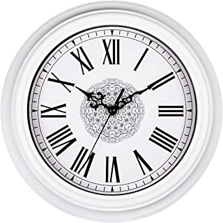 Topkey 12 Inch Wall Clock Silent Non-ticking Vintage Roman Numerals Wall Clocks for Living Room Kitchen Bedroom Home Offic...