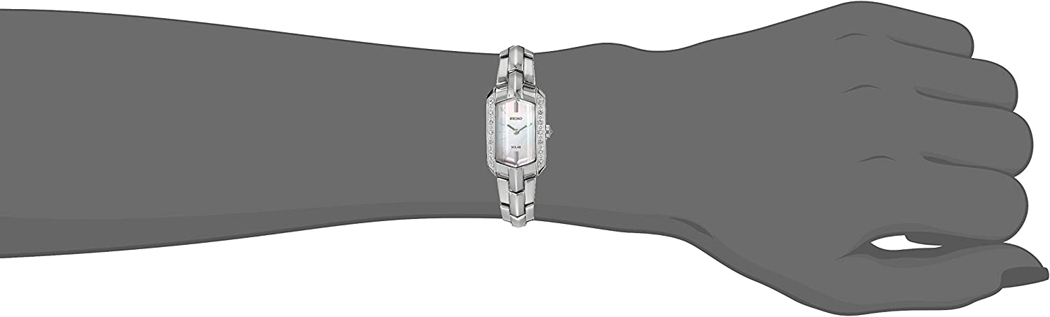 Seiko Womens Stainless Steel Japanese-Quartz Watch with Stainless-Steel Strap, Silver, 4 (Model: SUP329)