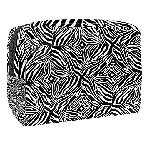 Maquillage Cosmetic Case Multifunction Travel Toiletry Storage Bag Organizer for Women - Zebra Skin Print Fashion