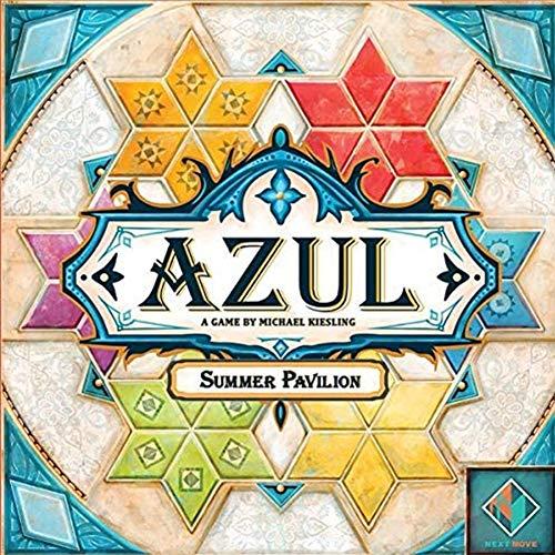 EDK Brettspiele Erwachsene Azul - Summer Pavilion Edition Glasmalerei Keramikfliesen Party Game Puzzle Spielzeug Gadget - Geschenke für Familie Freunde Männer Frauen Kind
