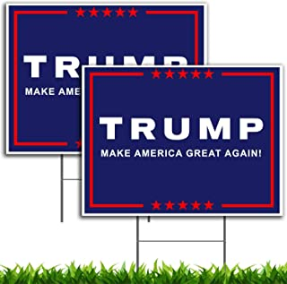 VIBE INK President Donald Trump - Make America Great Again - MAGA - Yard Sign Lawn Signage (18