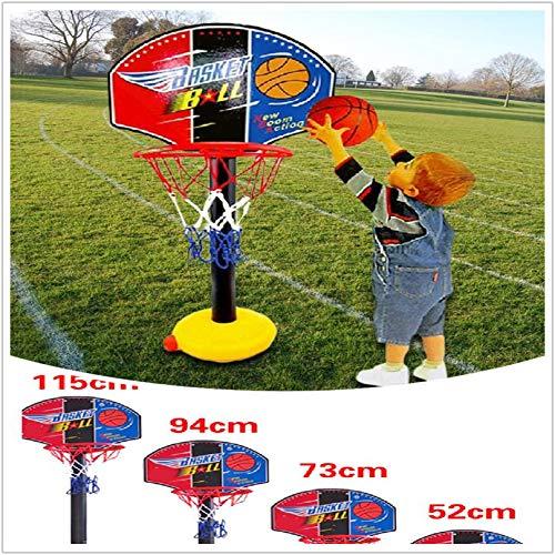 mxjeeio 52-115cm Mini basketballkorb Slam Basketball Brett Dekomprimieren Spielzeug Freizeit Sport mit Ball und Pumpe für Büro, Zimmer, Schlafzimmer, Badezimmer oder Toilette für Kinder Erwachsener