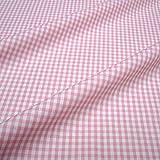 Stoff am Stück Stoff Baumwolle Vichy Karo rosa weiß 2,5