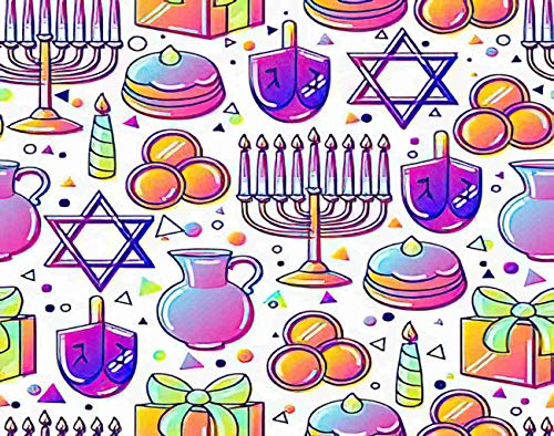 Merloady Hanukkah 5D DIY Diamond Painting Kits for Adults Kids Happy Hanuka Party Box Candles Ceremony Diamond Painting Arts Paint by Number Kits Home Wall Decor 8x12 Inch
