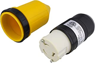ABN L5-50R 连接器带 RV 电源线套和环 - 50 安培扭锁入口锁定插头保护罩,50A 125/250VAC