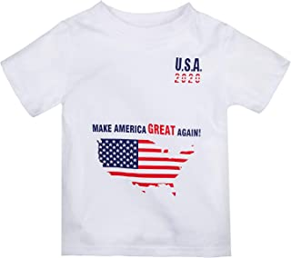 Little Kids Toddler Baby 2020 USA Graphic Boys Girls Short-Sleeve Tee T Shirts Shorts and Bodysuit Onesies