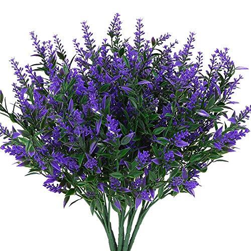 REFURBISHHOUSE Lavanda Flores Plantas Artific