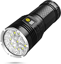 Sondiko 10000 Lumen Super Bright Led Flashlight, Rechargeable 12xLEDs 4 Modes Torch with Power dispaly Function&Insulation...