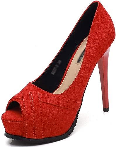 High Heels Sommer und Herbst Damen sexy Super High Heel Sandalen Mode Fisch Mund wasserdichte Plattform einfarbig offene Zehen Stiletto High Heel High Heel Sandalen