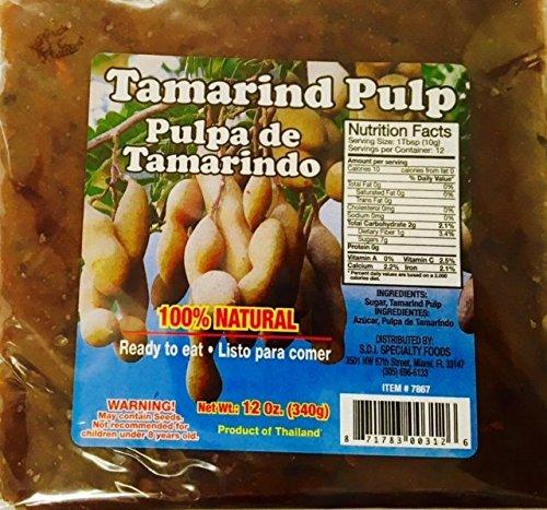 Tamarind Pulp - Pulpa de Tamarindo Ready to Eat 12oz