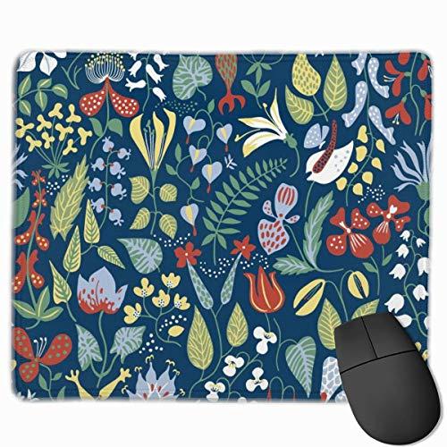 Tree Art-Flower Rechteckiges rutschfestes Gaming-Mauspad Tastatur Gummi-Mauspad für Heim- und Büro-Laptops