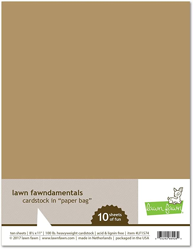 Lawn Fawn LF1574 Paper Bag Card Stock