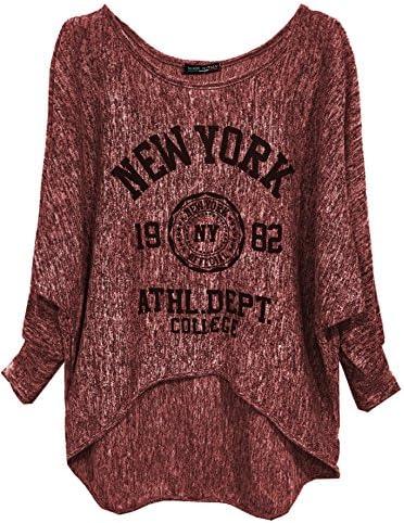 Emma & Giovanni Camiseta Manga Larga Mujer Gráfica Pullover Loose fit