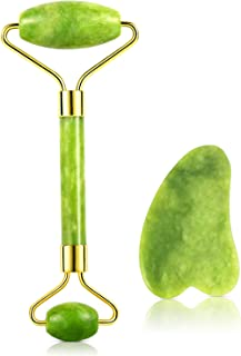 Jade Roller for Face,Eye Treatment Roller Natural Anti-aging,Firming Slimming,Rejuvenate Nece,Remove Wrinkles Puffiness