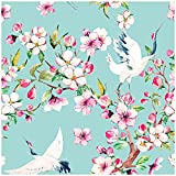 HaokHome 93073 Peel and Stick Cherry Blossom...