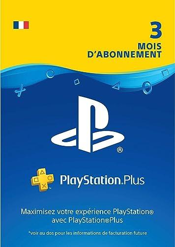 Sony PlayStation Plus, Carte d'abonnement de 3 mois, Code jeu à télécharger, Compte français