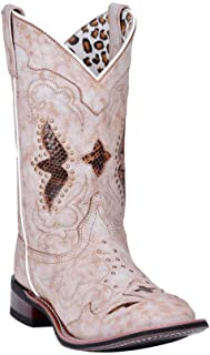 Western Boots Womens Spellbound Leather 6.5 M Off White 5711