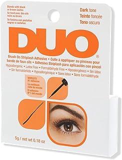 DUO Brush-On StripLash Adhesive, Dark Tone, With Vitamins A, C & E (Hypoallergenic, Latex & Formaldehyde Free), 0.18 oz/5 g