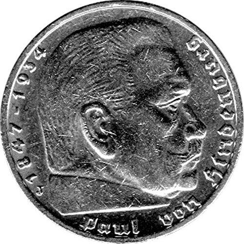 Schniebel Trading 5 Reichsmark Deutschland, 1937 J, Hindenburg (Jäger: 367) Vorzüglich
