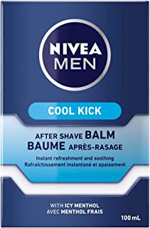 NIVEA Men Cool Kick After Shave Balm (100mL), Aftershave for All Skin Types, After Shave Balm for Men that Soothes, Cools,...
