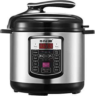 Maxkon 8-in-1 Electric Pressure Cooker Stainless Steel Dishwasher-safe 6L 1000W - Silver