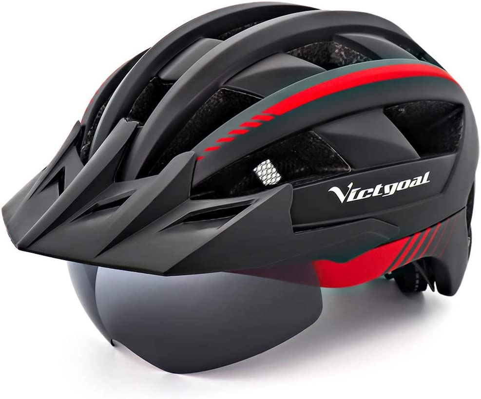 3. VICTGOAL Bike Helmet With Detachable Magnetic Goggles