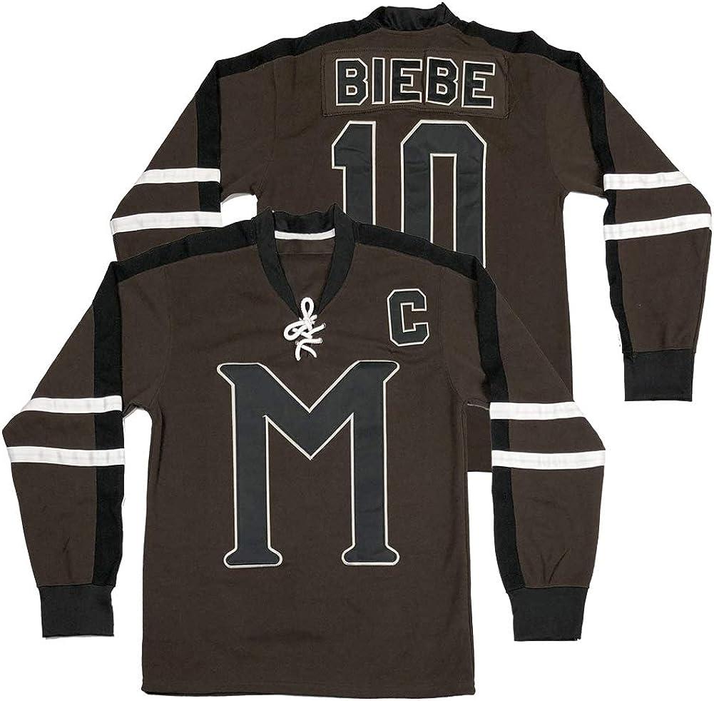 Men's #10 John Branded goods Biebe Mystery High quality Alaska Stit Movie Hockey Jersey Ice