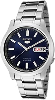 Seiko Unisex 5 Sports 37mm Steel Bracelet & Case Hardlex Crystal Automatic Blue Dial Analog Watch SNK793K1