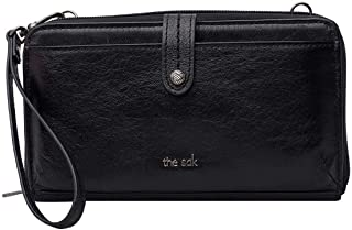 Genuine Leather 3-in-1 Phone Wallet, Color: Black Onyx