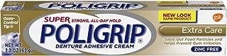 Super Poligrip Extra Care Zinc Free Denture Adhesive Cream, 2.2 ounce