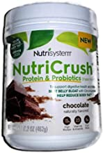 NUTRISYSTEM NutriCrush SHAKE (Protein & Probiotics) CHOCOLATE SHAKE MIX 16.3 OZ - 14 Servings - Support Digestive Health &...