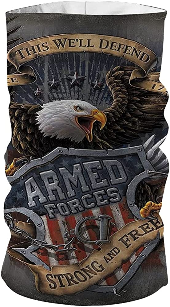 ARMED FORCES SINCE 1775 Neck Gaiter, Customized Neck Gaiter, Personalized Neck Gaiter