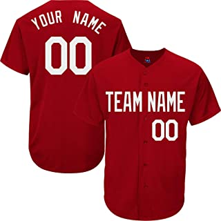 Showcool Custom Baseball Jersey for Men Women Youth Button Down Embroidered Your Name & Numbers S-5XL