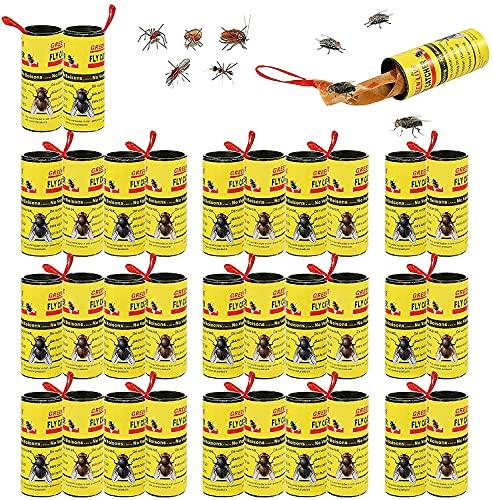 Piège à Mouches,32 Pièges à Mouches Collantes,Tueur De Mouches En Papier,Piège à Insectes Collants En Rouleau De Papier à Mouches,Piège à Mouche Pour Les Insectes Volants Intérieurs Et Extérieurs