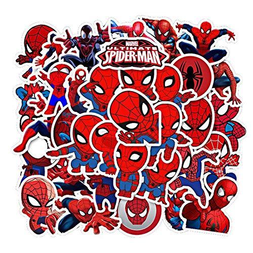 Disney Spiderman Los Vengadores Pegatinas Impermeable Monopatín Guitarra Portátil Equipaje Casco Cool Cartoon Sticker Niños Juguete 35pcs