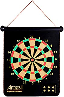 arozell Magnetic Dart Board with 12PCS Darts, 2019 Professional Safe Indoor Outdoor Fun Game Toy Gifts for Kids Adult