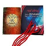 5 pulseras de cadena de Kabbalah rojas bendecidas en Jerusalén con amuleto de sello King Solomon a juego