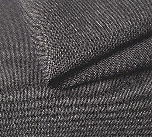 Webstoff Strukturstoff Sawana - Polsterstoff Möbelstoff Uni Meterware - grau - 005