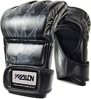 ABC Boxing Gloves, Half Finger Kickboxing Training Gloves,Grappling Gloves,Punching Bag Mitts, Fight Gloves for Men&Women