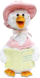 """Cuddle Barn Mother Goose Animated Talking Musical Plush Toy, 14"""" Super Soft Cuddly Stuffed Animal Moves and Talks, Captiva..."""